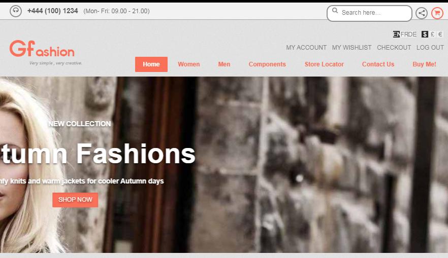 GFashion时尚服装平台模板