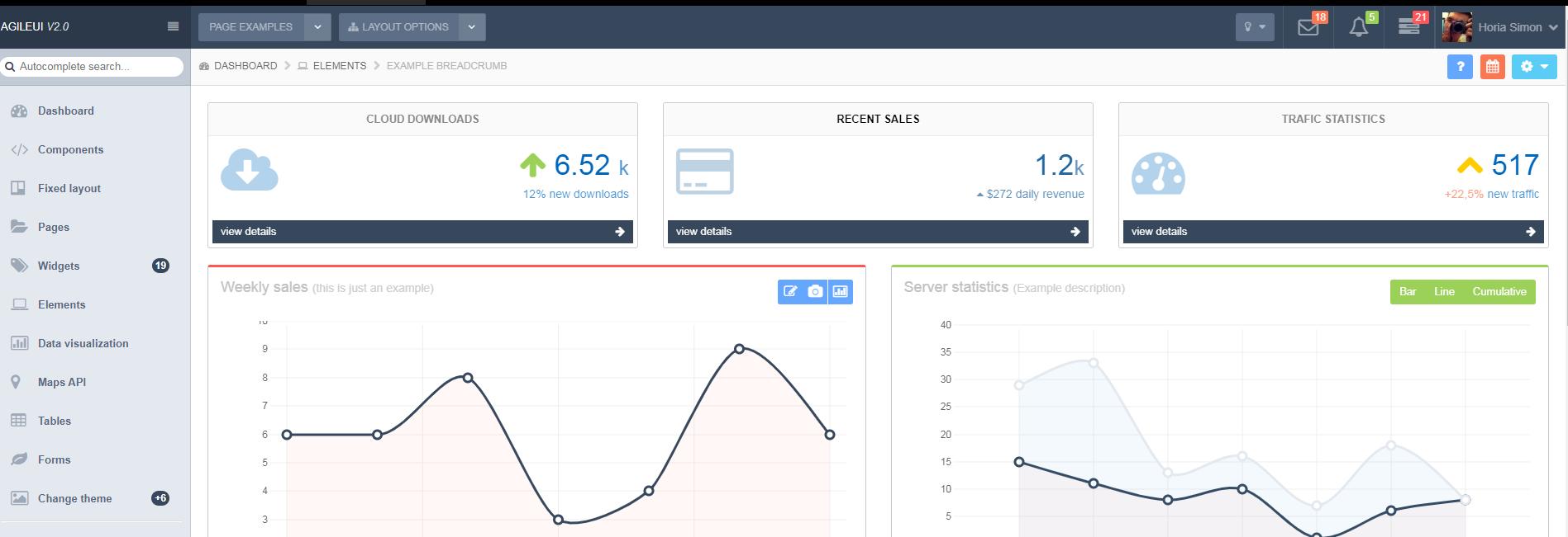 大气的Bootstrap响应式后台管理模板