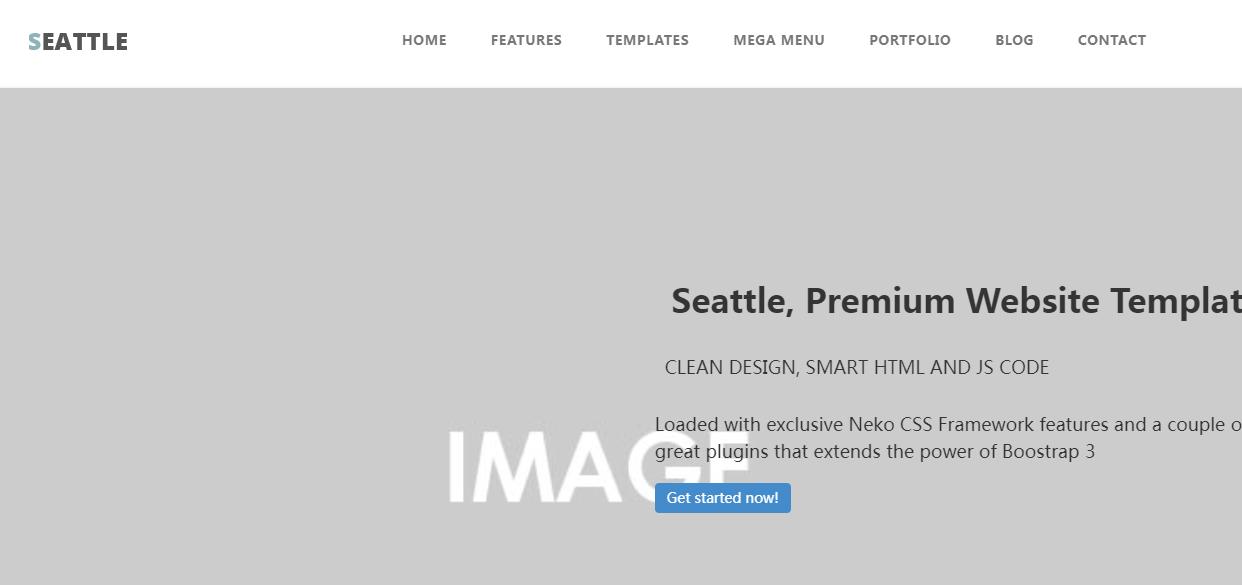 用户可自选择颜色的响应式网站模板