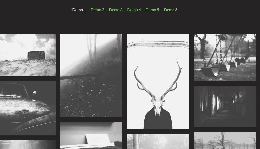 html5瀑布流图片效果