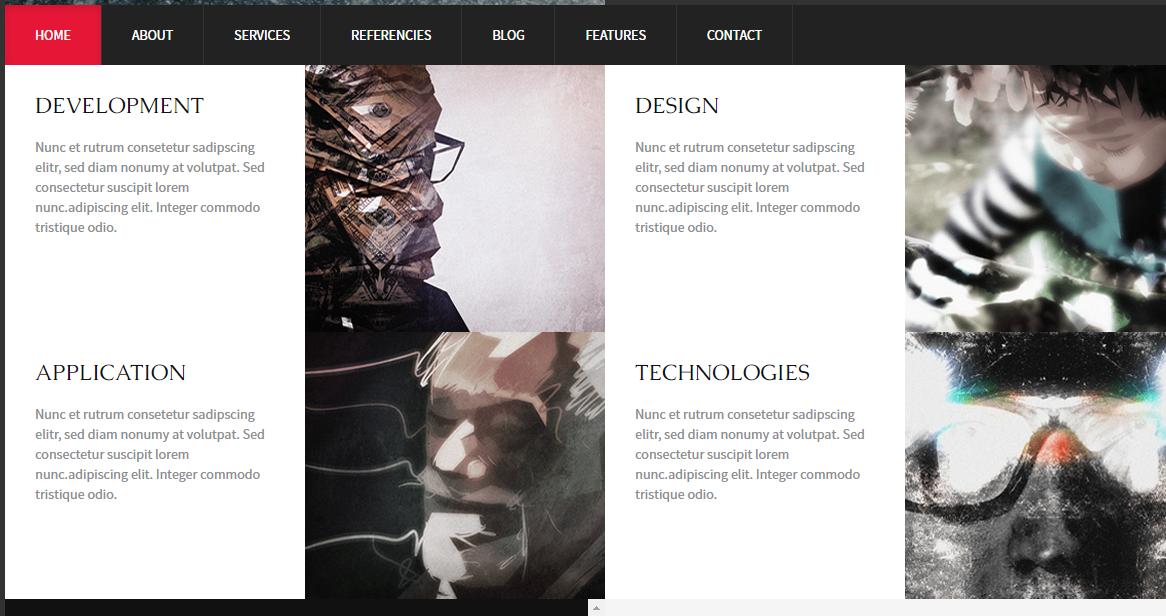 响应式简洁网站HTML整套