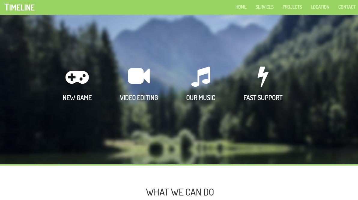 个人单页绿色响应式模板