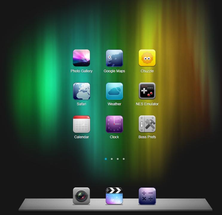 仿iphone触屏手机界面