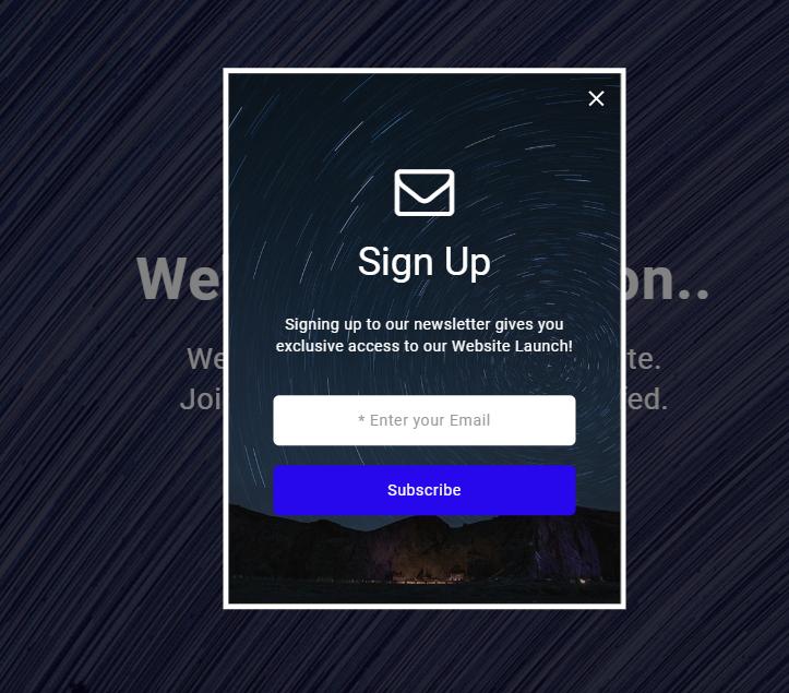 在線郵箱訂閱反饋html5模板