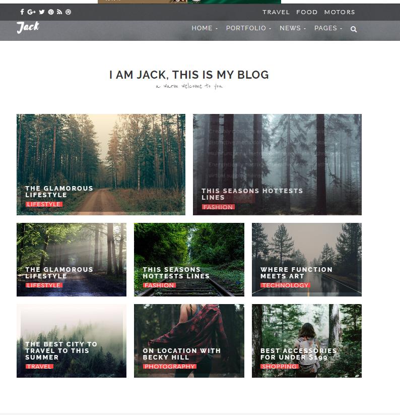 个人自媒体博客整站模板