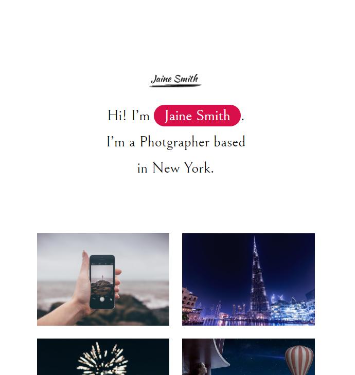 图片照片展示html5模板