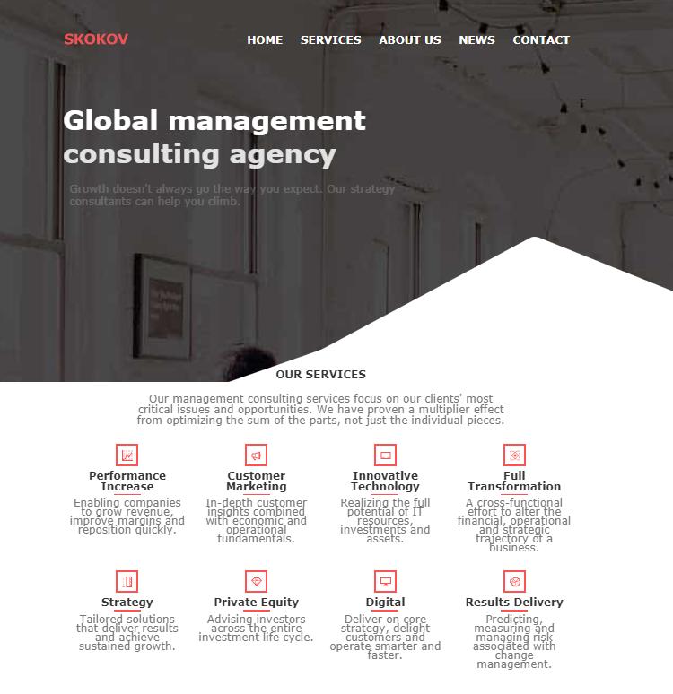 商务办公管理咨询服务响应式模板