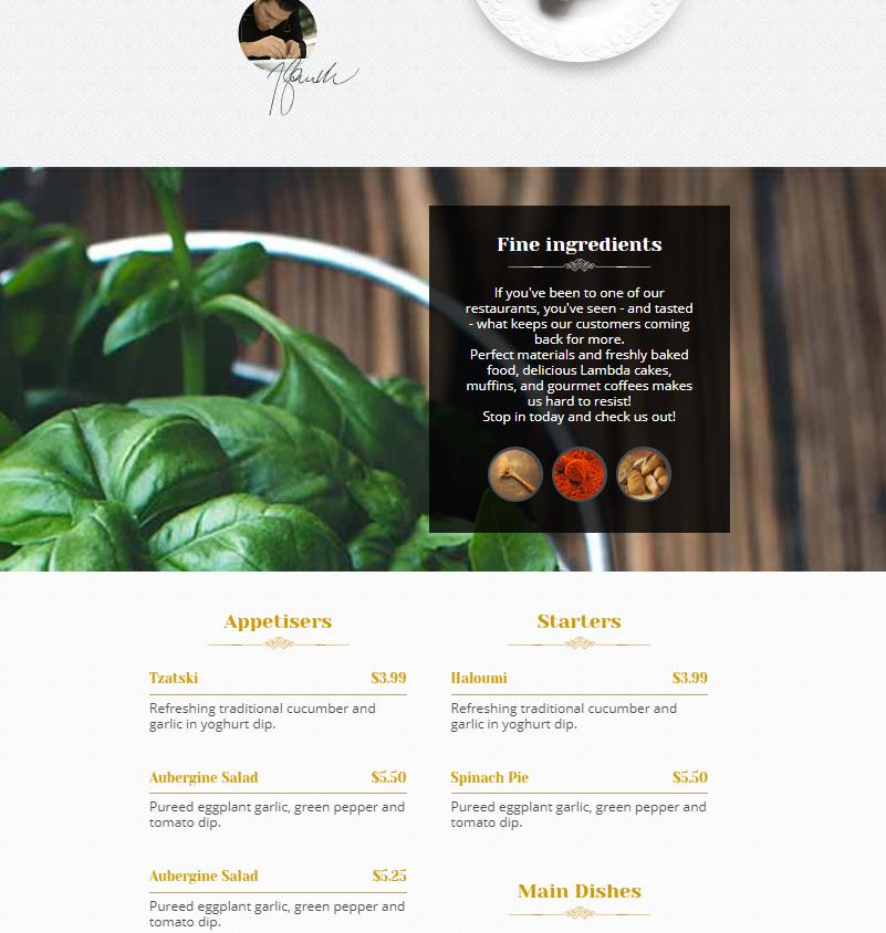 西餐美食店响应式网站模板