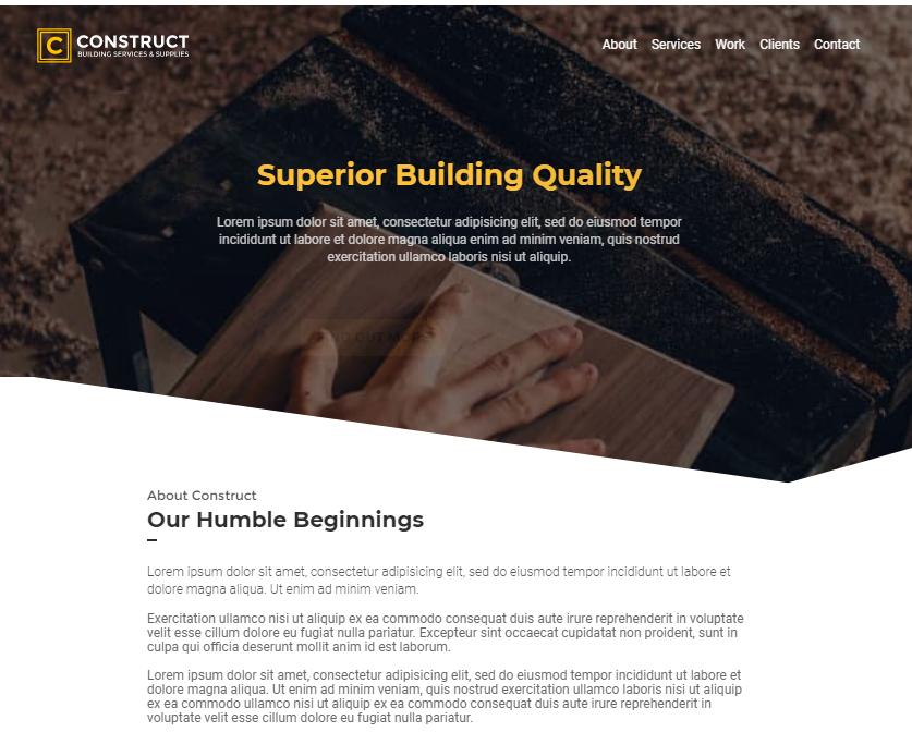建筑工程响应式网站模板