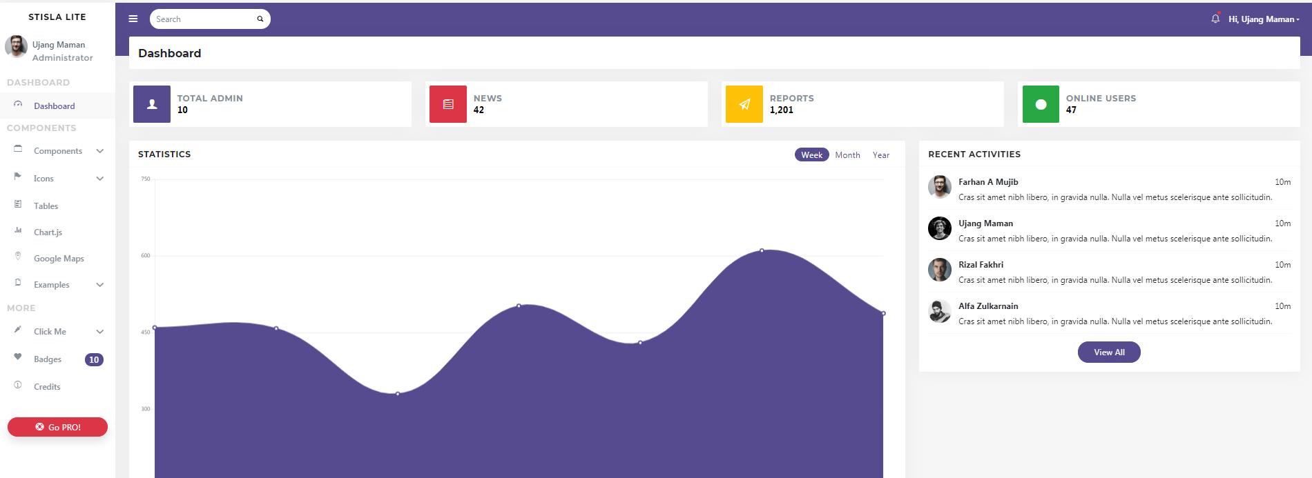 紫色管理系统UI bootstrap后台模板