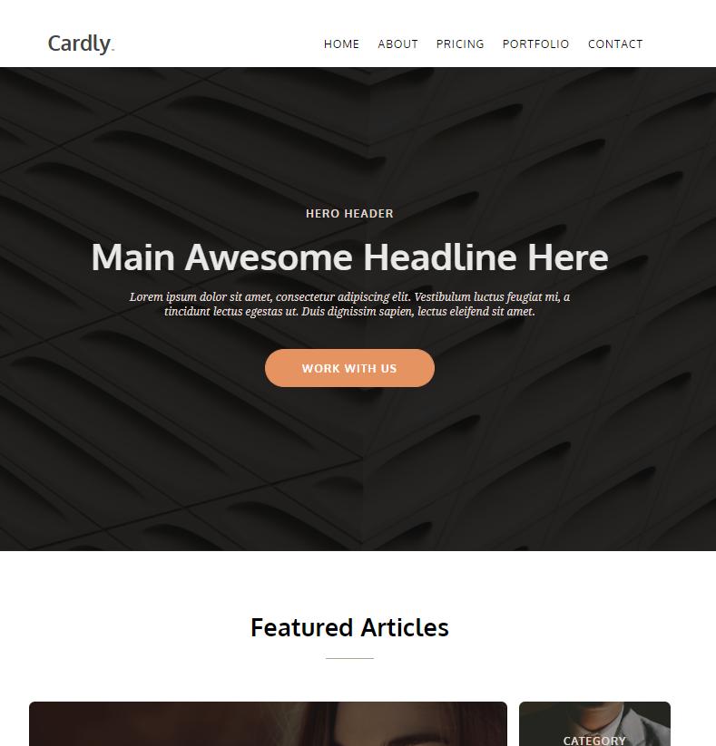创意设计个人博客展示响应式模板