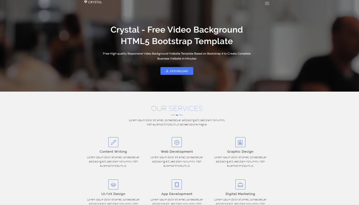 Video视频背景设计企业模板