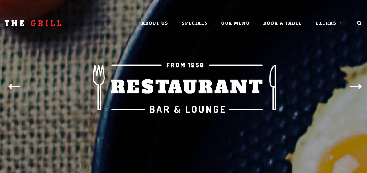 黑色大氣意面西餐廳響應式模板