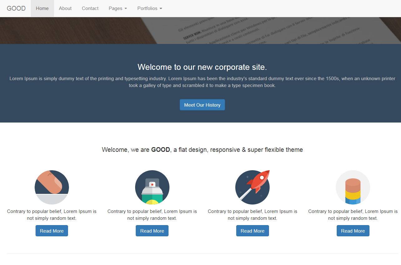 推廣公司響應式整站網站模板