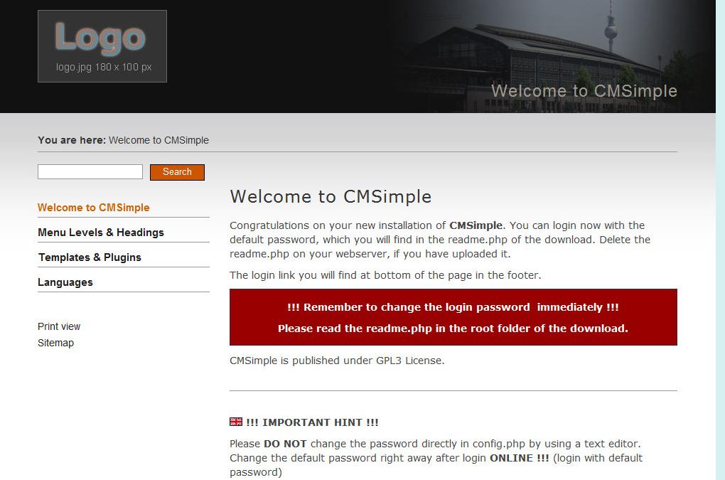 CMSimple内容管理系统