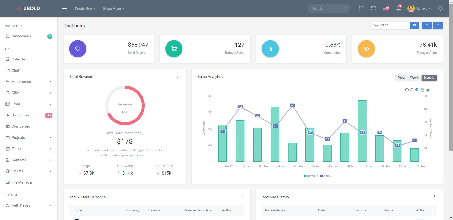 响应式Bootstrap后台管理系统模板UI框架