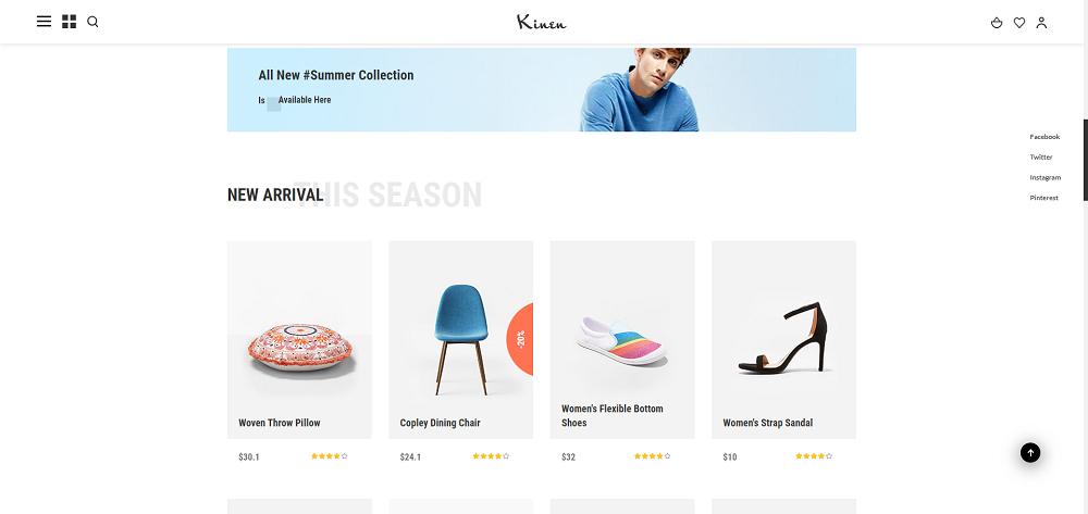 时尚服饰搭配电商网站html5前端框架