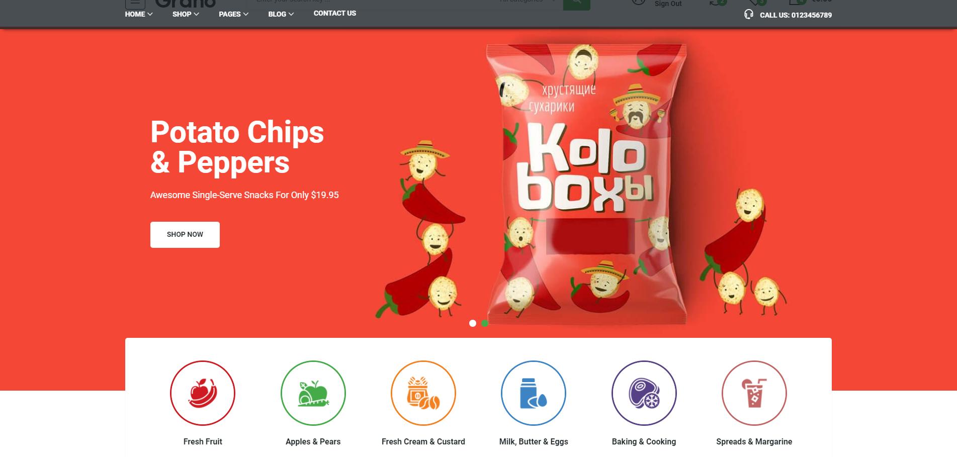 Bootstrap有机食品线上超市网站模板