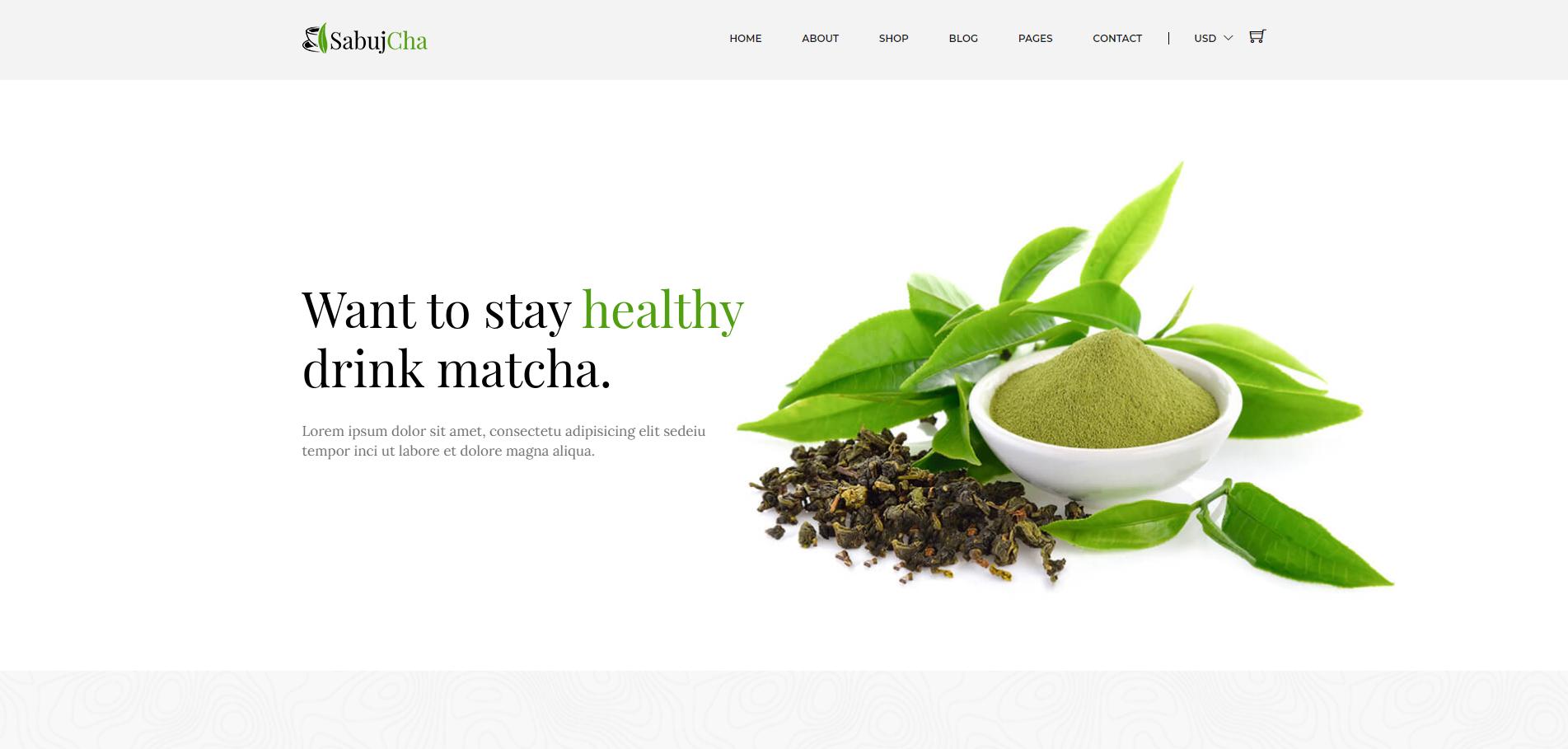 绿色的抹茶在线电子商城bootstrap模板
