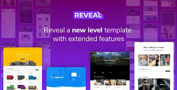 多用途的电子商务网站模板-Reveal