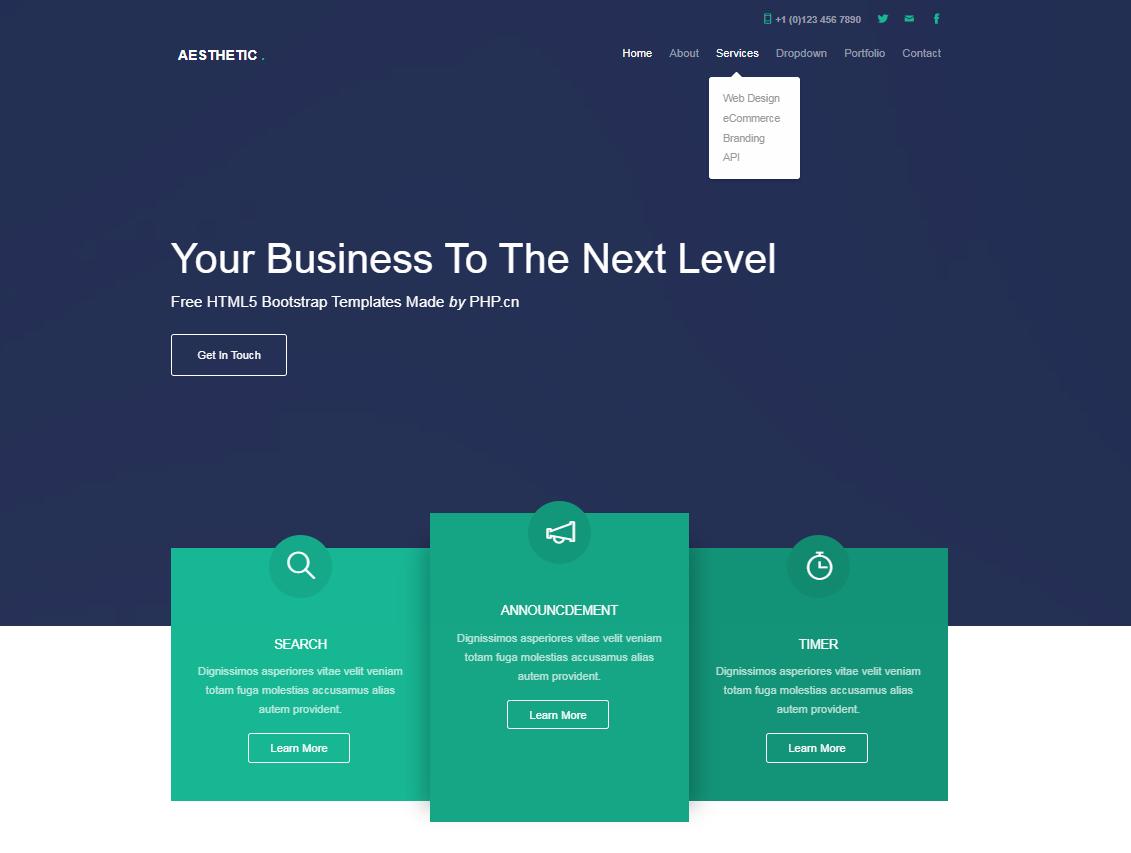通用的Bootstrap互联网公司网站模板