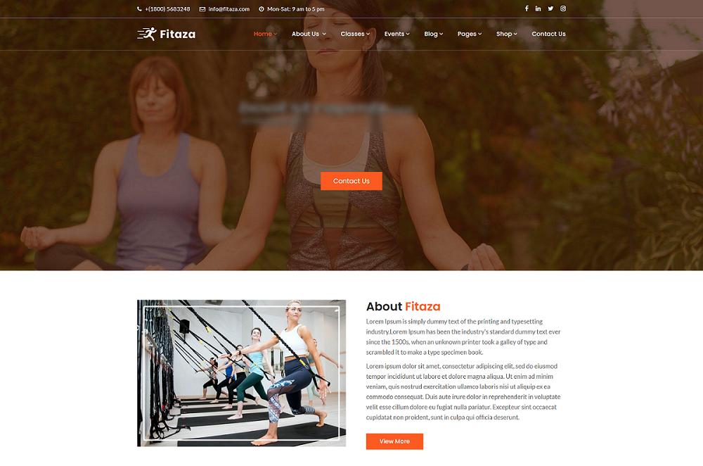 精美的健身瑜伽类Bootstrap网站模板