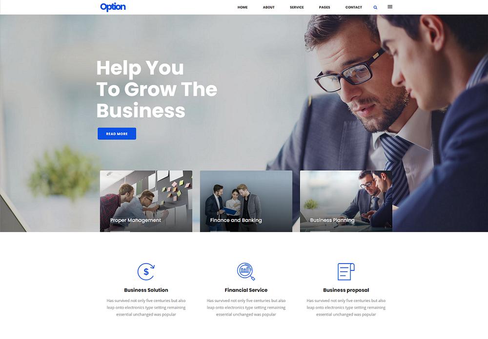 通用Bootstrap企业公司网站模板-Option