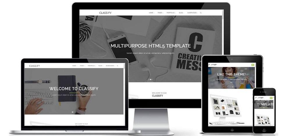 Bootstrap企业工作室个人网站模板-Classify
