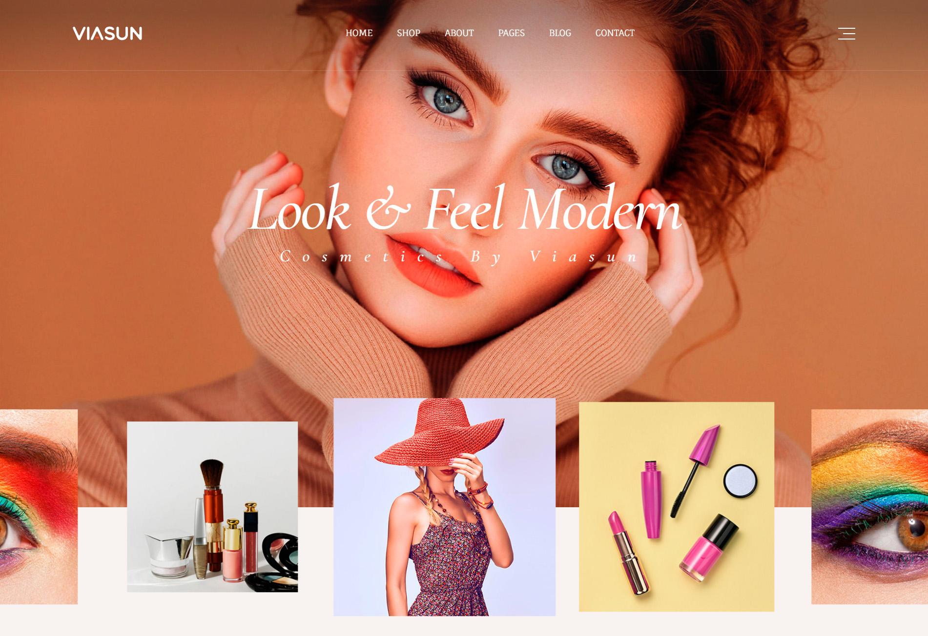 品牌化妆品商店官网模板