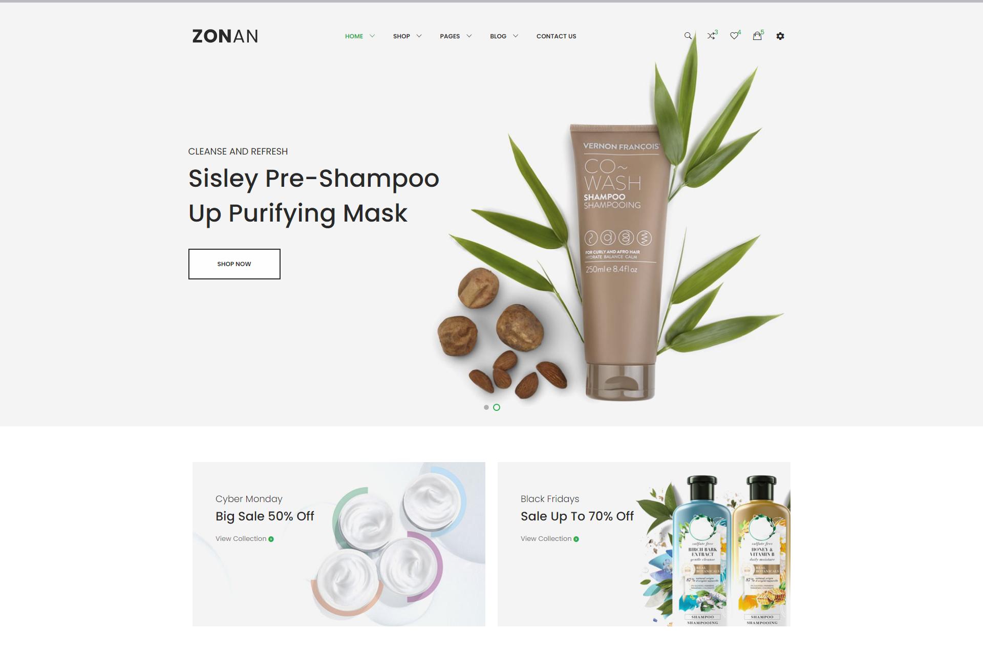 响应式的化妆品电商网页模板