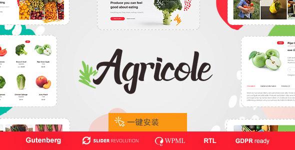 响应式水果蔬菜购物网站WordPress主题-Agricole