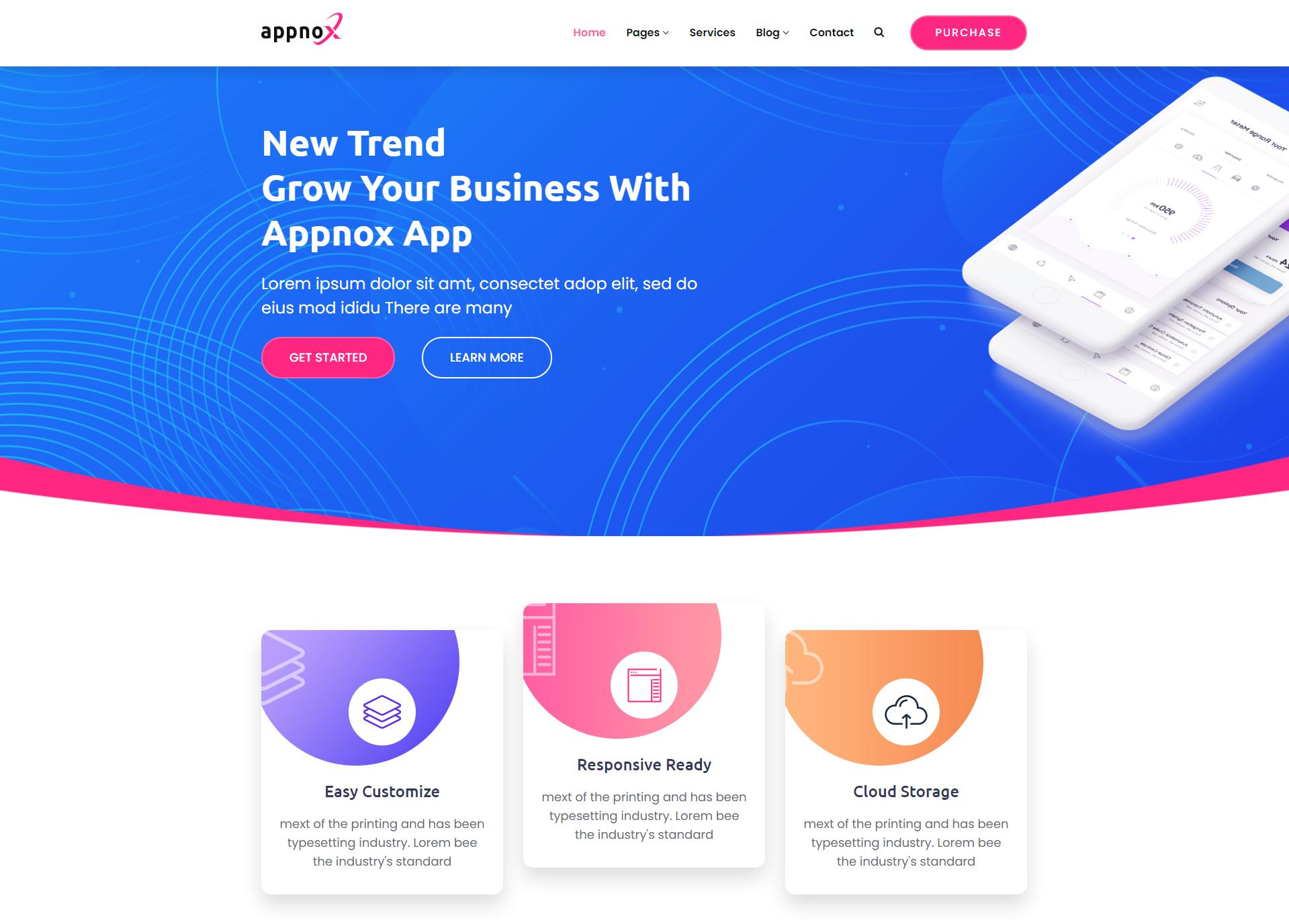 多用途的app产品软件官网模板-Appnox
