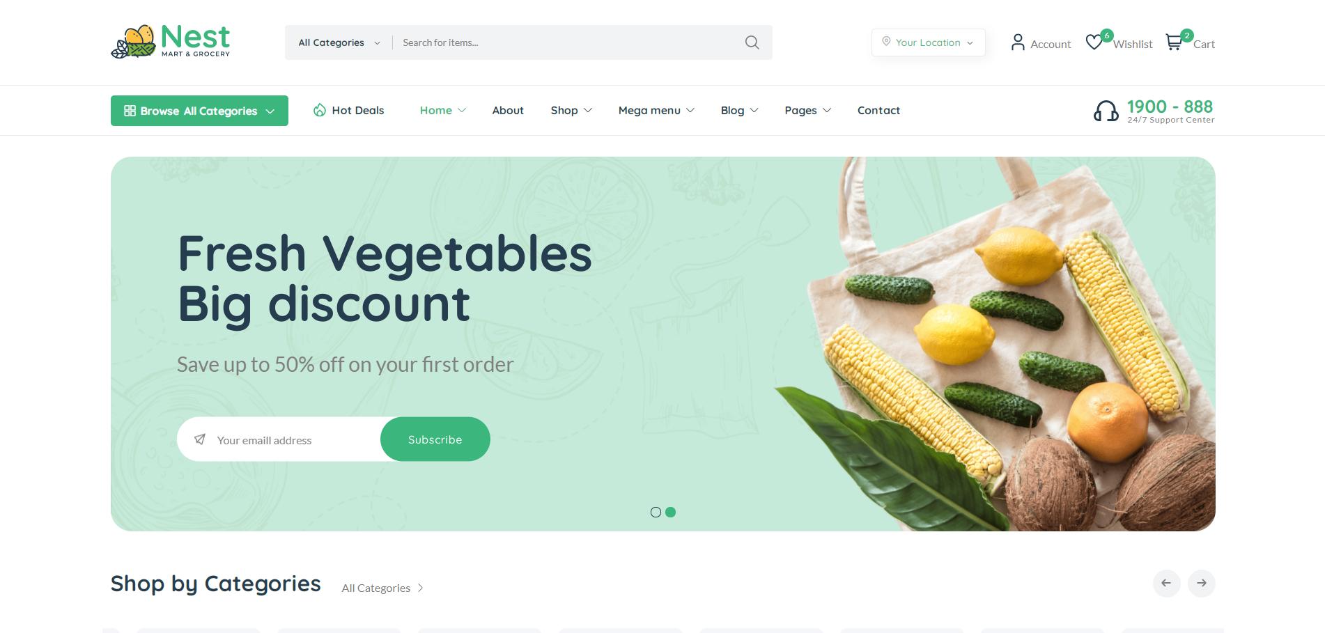 绿色HTML5生鲜水果超市电商模板
