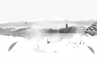 夏季西湖龙井茶叶中国风banner背景