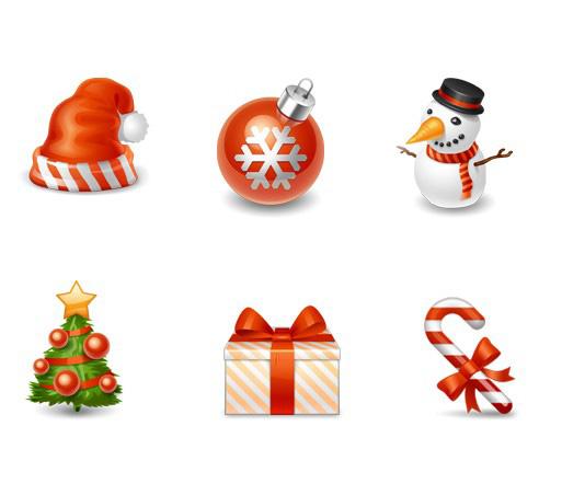 6个精美圣诞节图标
