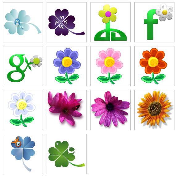 可爱花朵图标