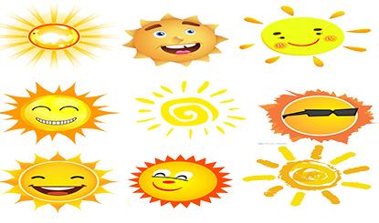 卡通太阳夏天矢量素材