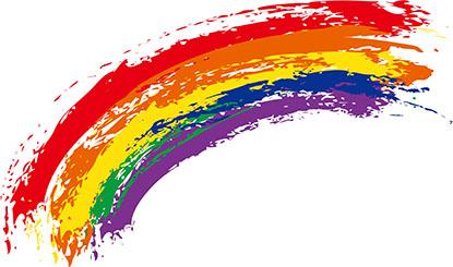 水彩涂鸦彩虹矢量素材