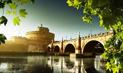建筑物与桥梁河水风景摄影高清图片