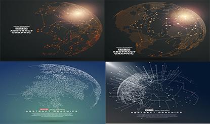 创意抽象地球矢量背景图