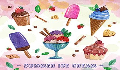 美味夏日雪糕矢量素材