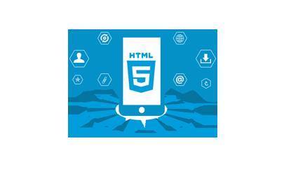 蓝色HTML5标志素材