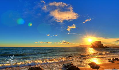 海边日出高清图片