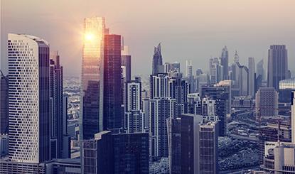 繁华的城市建筑景色高清图片