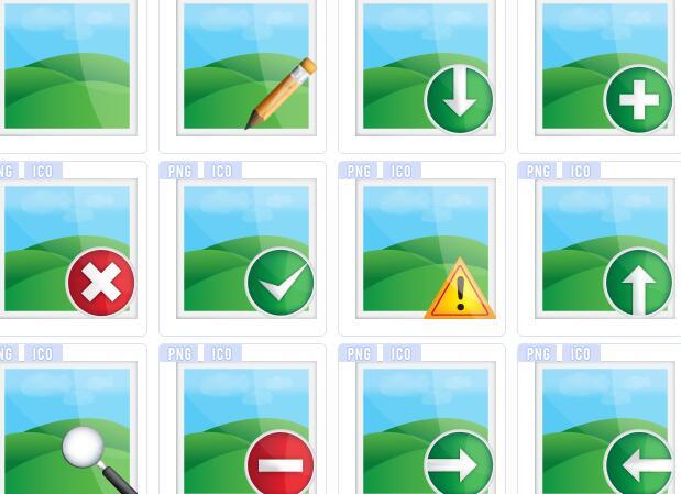绿色图像图标下载