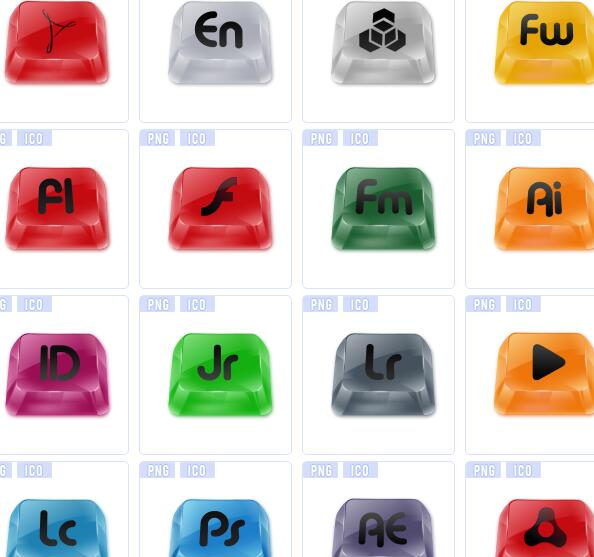 彩色键盘图标下载