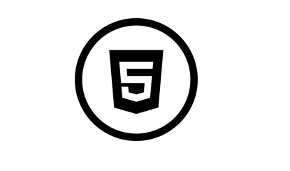 黑色圆形HTML5图标