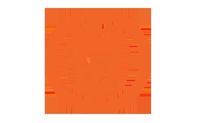 橙色圆形HTML5图标