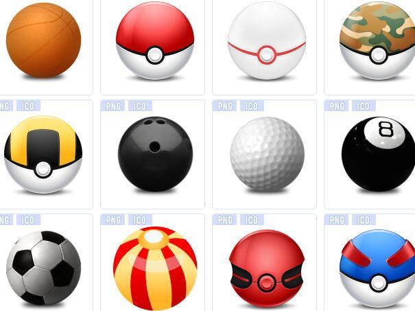 彩色圆球图标下载