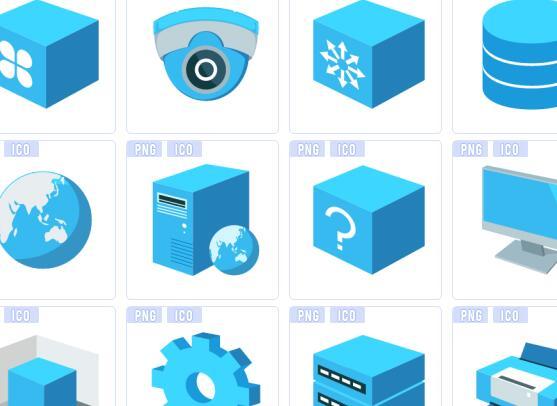 蓝色系列图标下载
